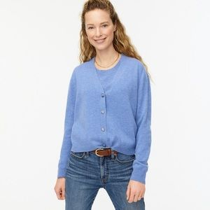 J crew aw112 relaxed fit cashmere cardigan heather
